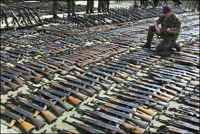 AK-47 assault rifles (not wespons) used by drug cartels