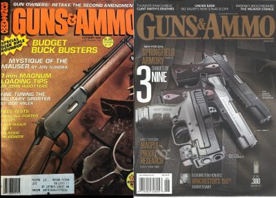 Guns & Ammo covers from 1980 and 2016