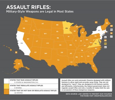 Law Center to Prevent Gun Violence redefines assault rifle
